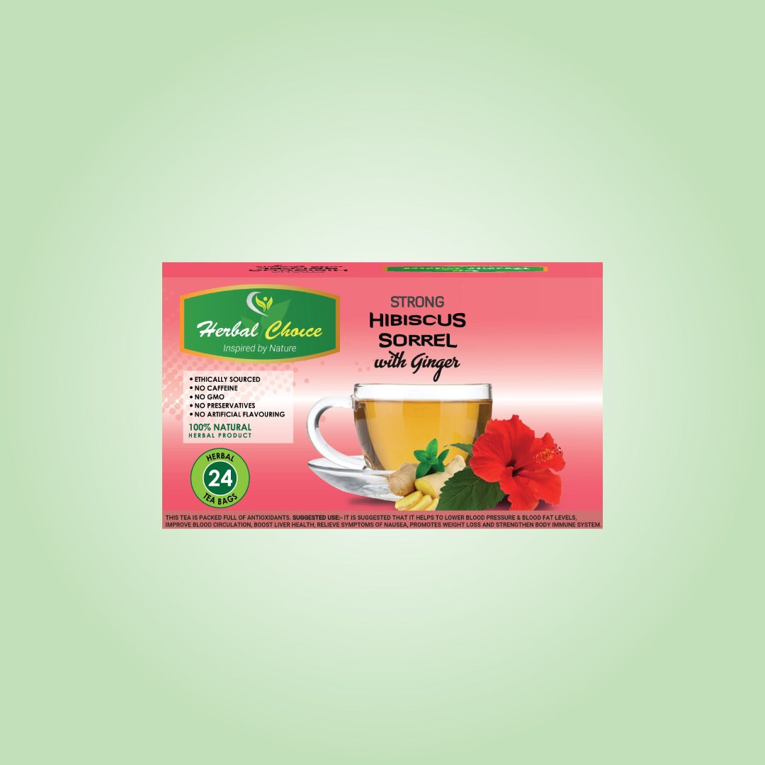 Strong Hibiscus Sorrel with Ginger Tea-Crownherbalproducts