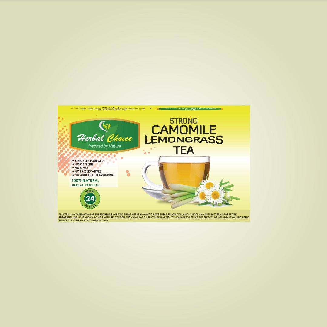 Strong Camomile and Lemongrass Tea-Crownherbalproducts