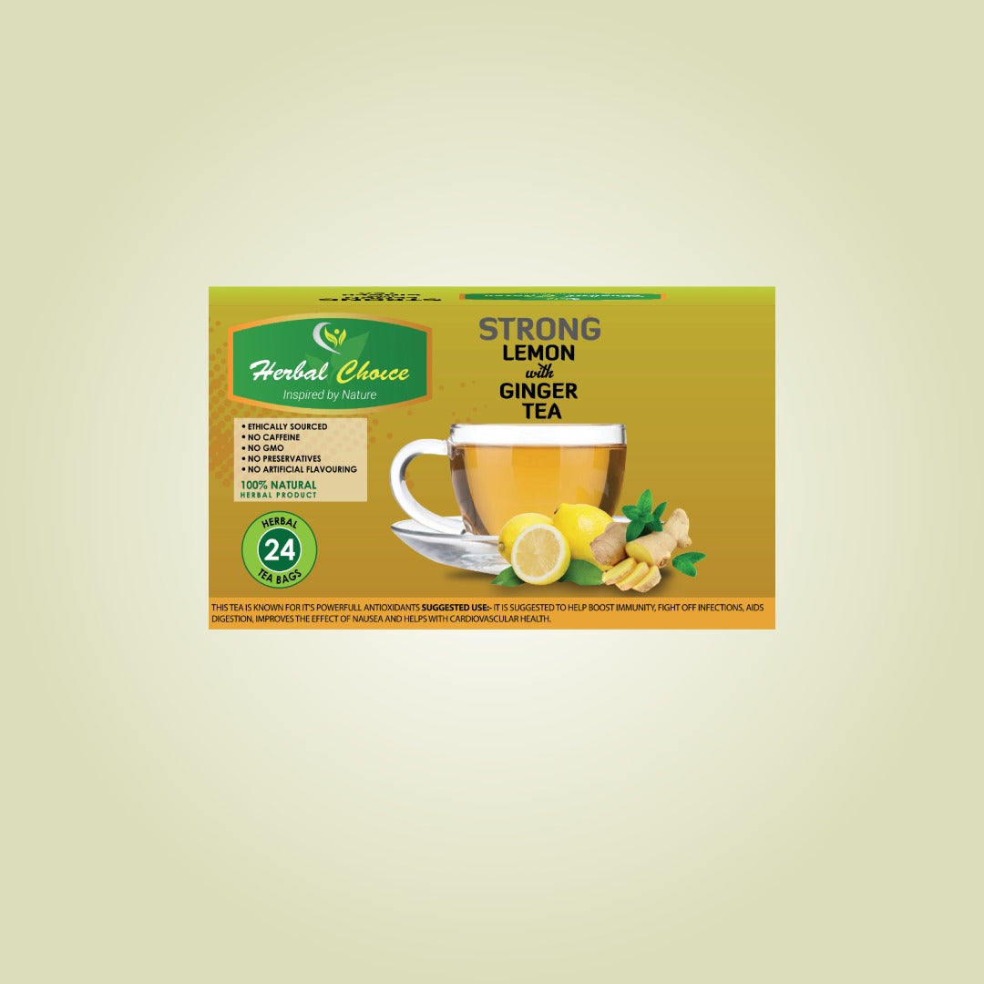 Strong Lemon and Ginger Tea-Crownherbalproducts