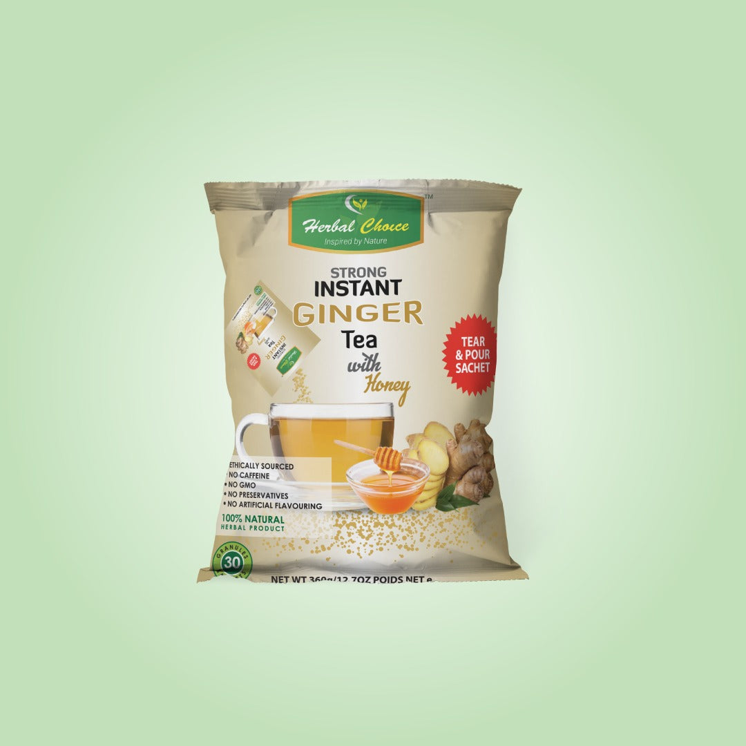 Strong Instant Ginger Tea With Honey Granules-Tea-Crownherbalproducts
