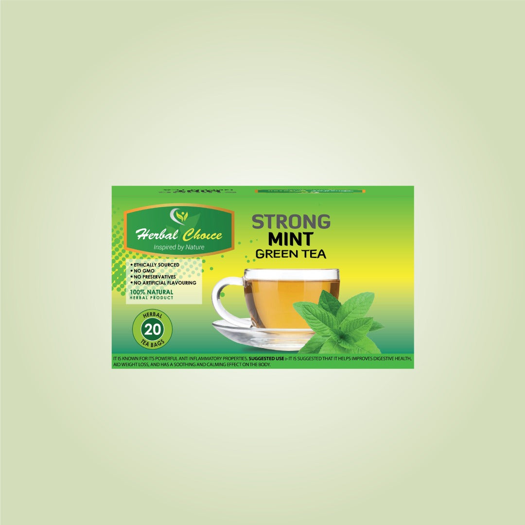 Strong Mint Green Tea-Crownherbalproducts