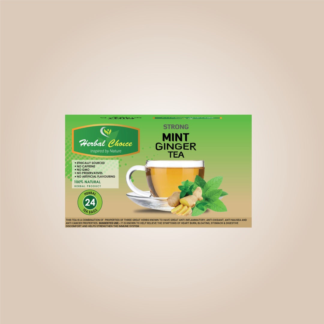 Strong Mint Ginger Tea-Crownherbalproducts