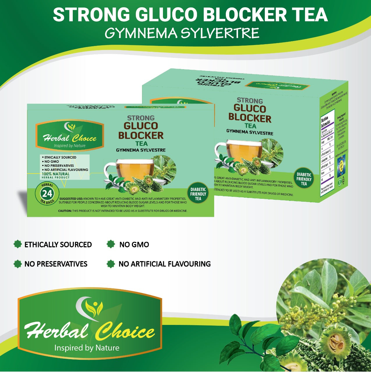Strong Glucoblocker Tea-Crownherbalproducts