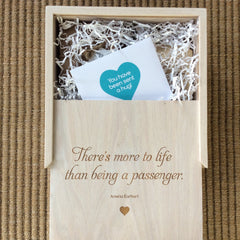Wooden Keepsake Gift Box with engraved lid