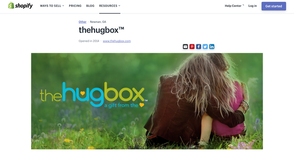 Shopify Success Story - the Hug Box™