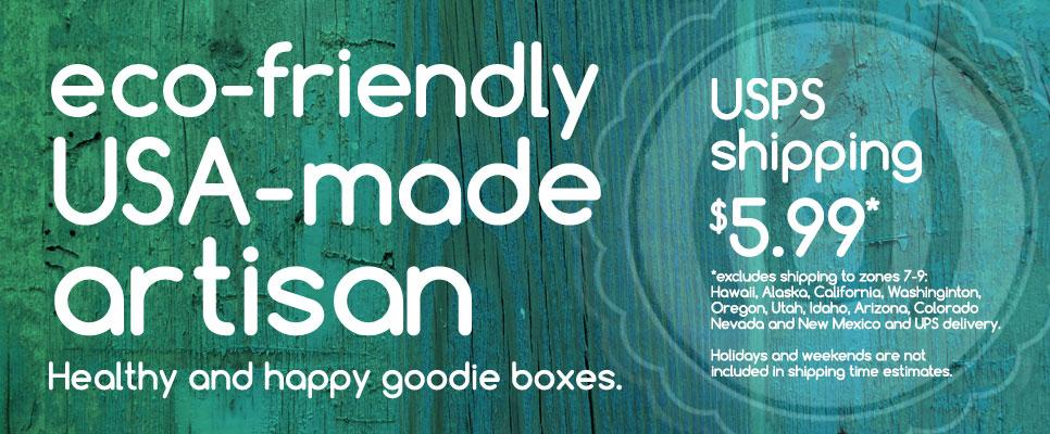 hugs in a box ecofriendly, made-in-the-usa, artisanal gifts for everyone