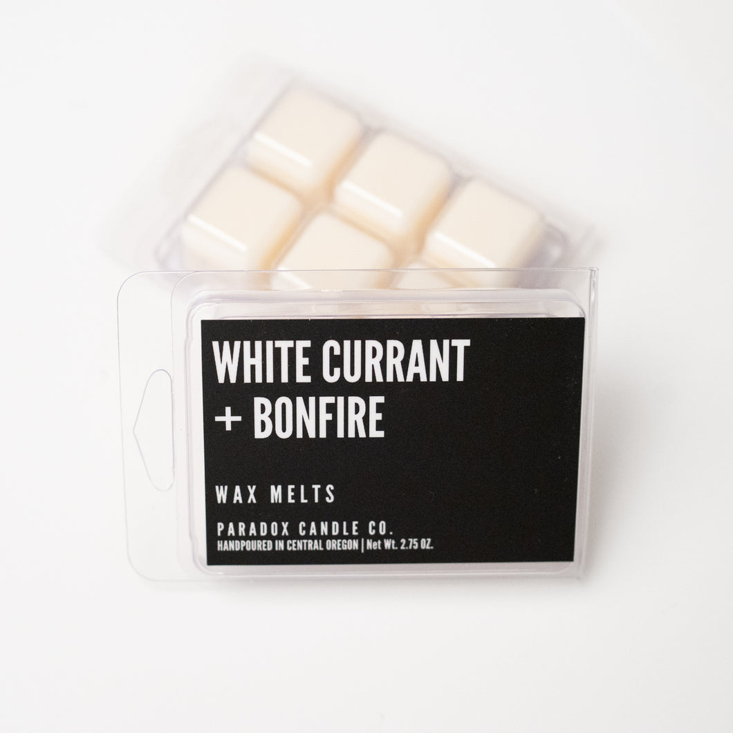 paradox candle co oregon white currant bonfire wax melts