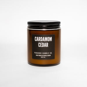 paradox candle co oregon cardamom cedar soy candle