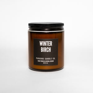 paradox candle co oregon winter birch soy candle