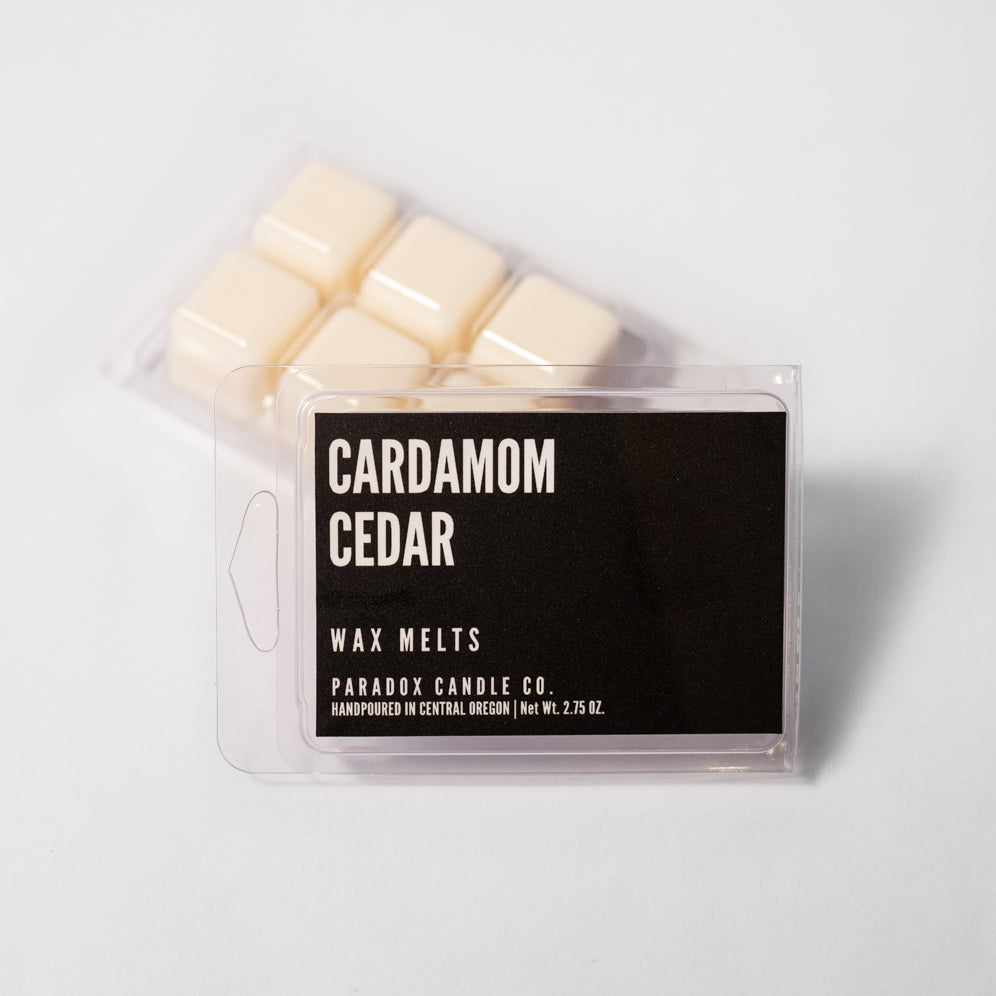 paradox candle co oregon cardamom cedar wax melts