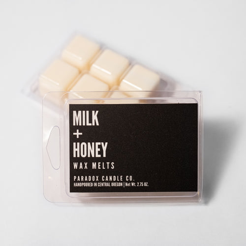 paradox candle co oregon milk and honey wax melts