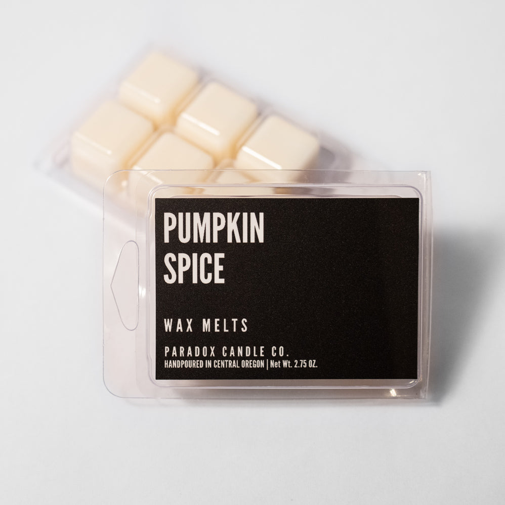 paradox candle co oregon pumpkin spice wax melts