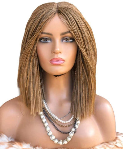 "Hand Braided Wigs, Micro Million twist (Blonde, 14"")"