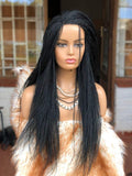 "Hand Braided Wigs, Micro Million twist (Black, 22-24"")"