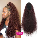 Long Kinky Afro Curly Ponytail