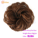 Elastic Hair Scrunchies, Curly Hair Bun