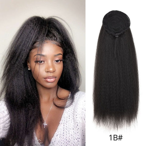 Afro Kinky Synthetic Hair Natural Drawstring Ponytail