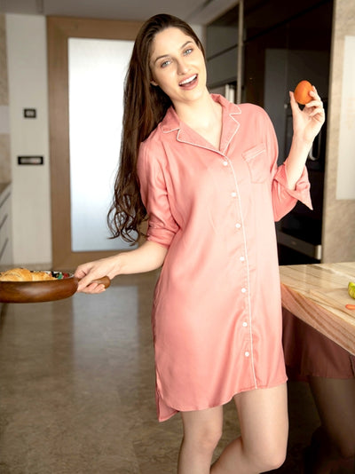 Peach Boyfriend Shirt
