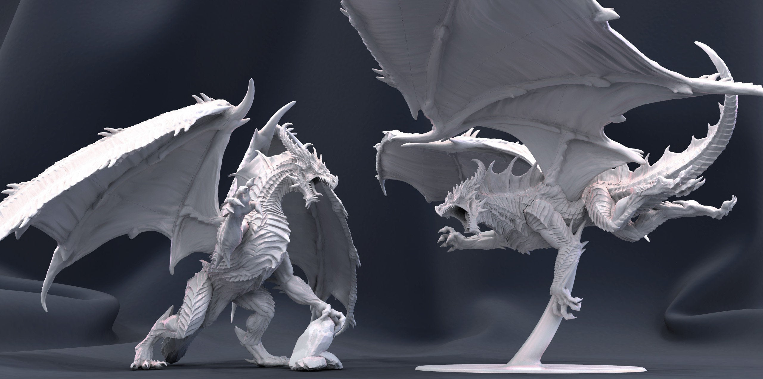Ornithaax The Majestic Dragon Miniature 3D Resin Printed 28-32mm Tabletop Fantasy Gaming D/&D Pathfinder Frostgrave 40K Artisan Guild