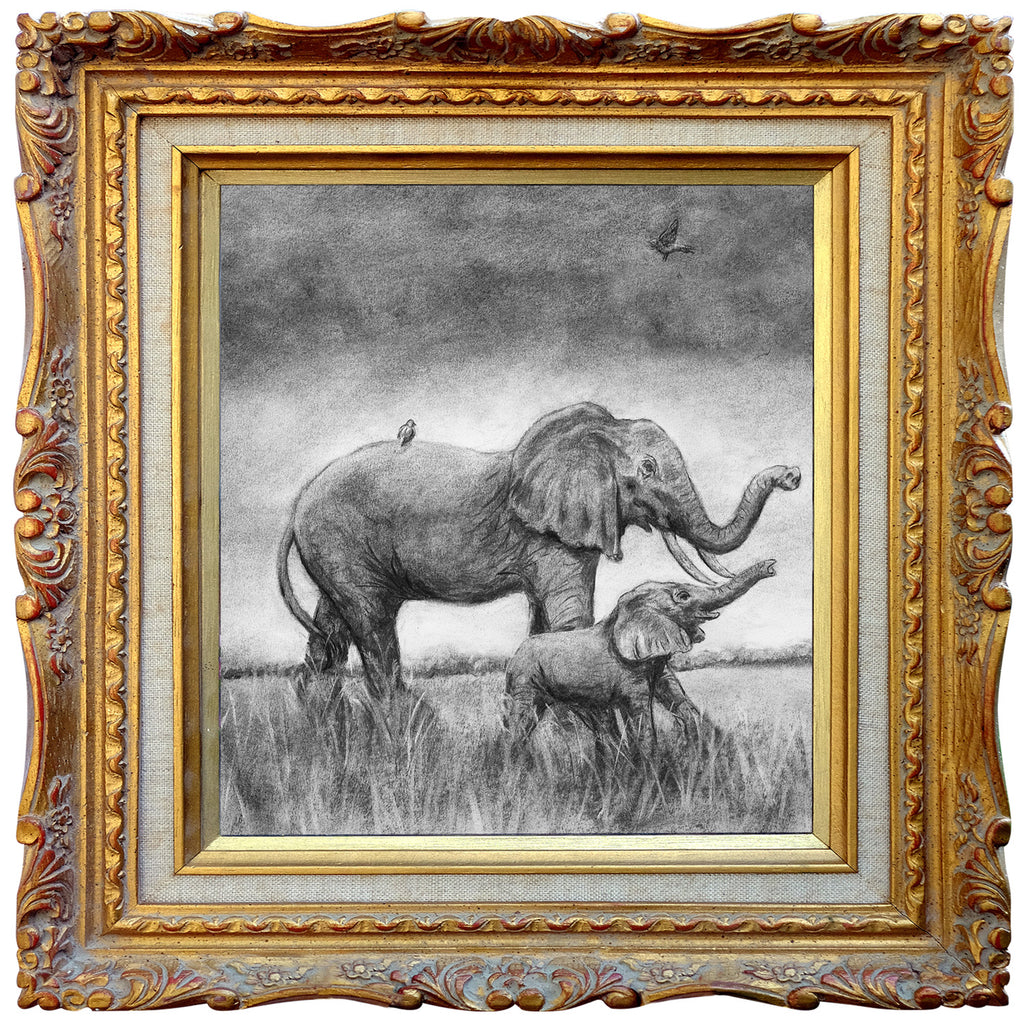 Elephante - Square Blank Greeting Card