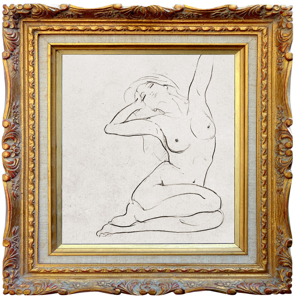 Nude 12 - Square Blank Greeting Card