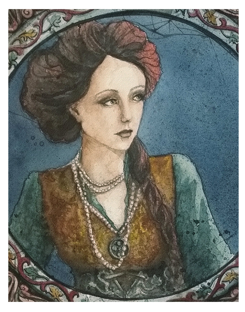 Steampunk Lady - Art Print