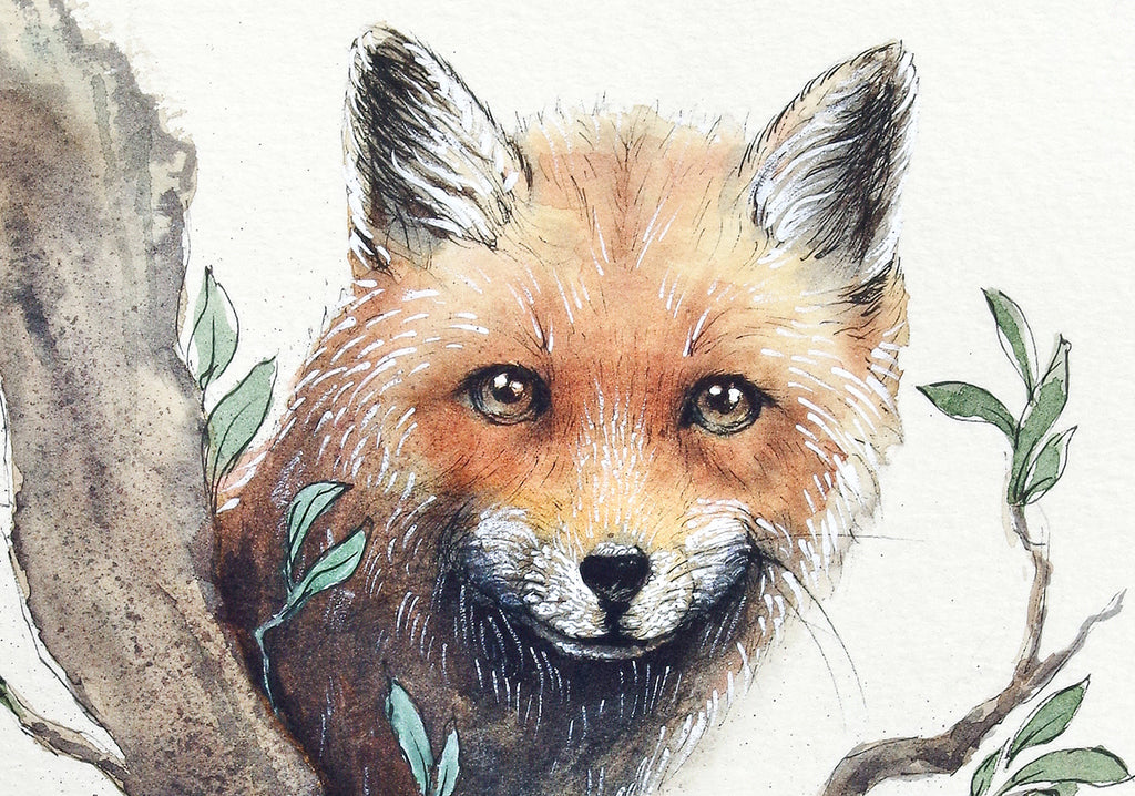 Fox in a Tree - Blank Greeting Card