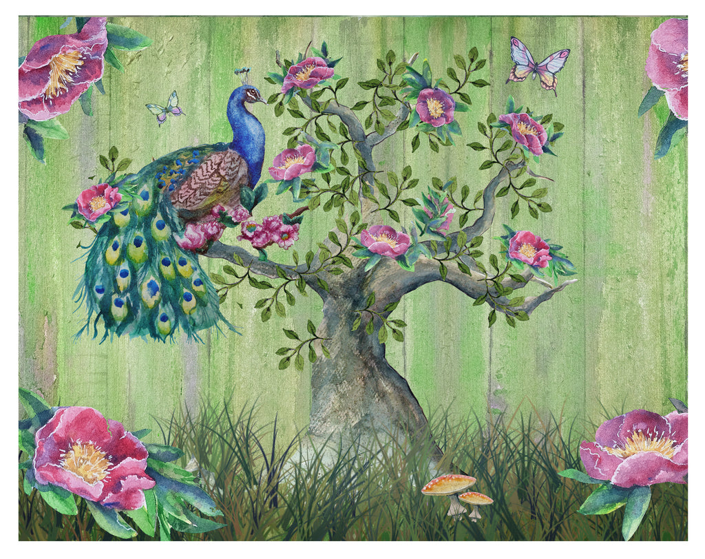 Pretty Peacock in a Tree - Art Prints