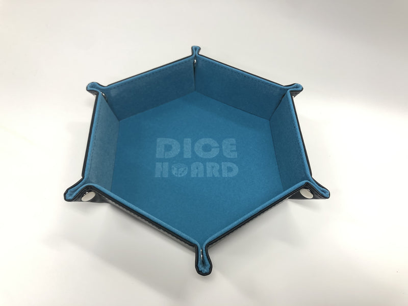 Dice Hoard Dice Tray Hex Blue