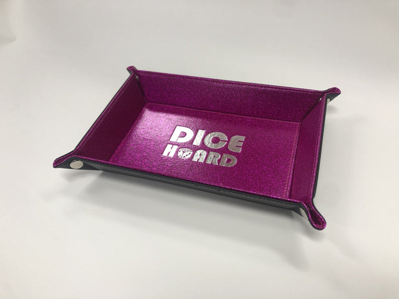 Dice Hoard Dice Tray Glitter Rose Red - Good Games