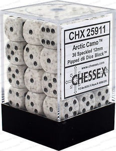 Chx 25911 Speckled 12mm D6 Arctic Camo (36)