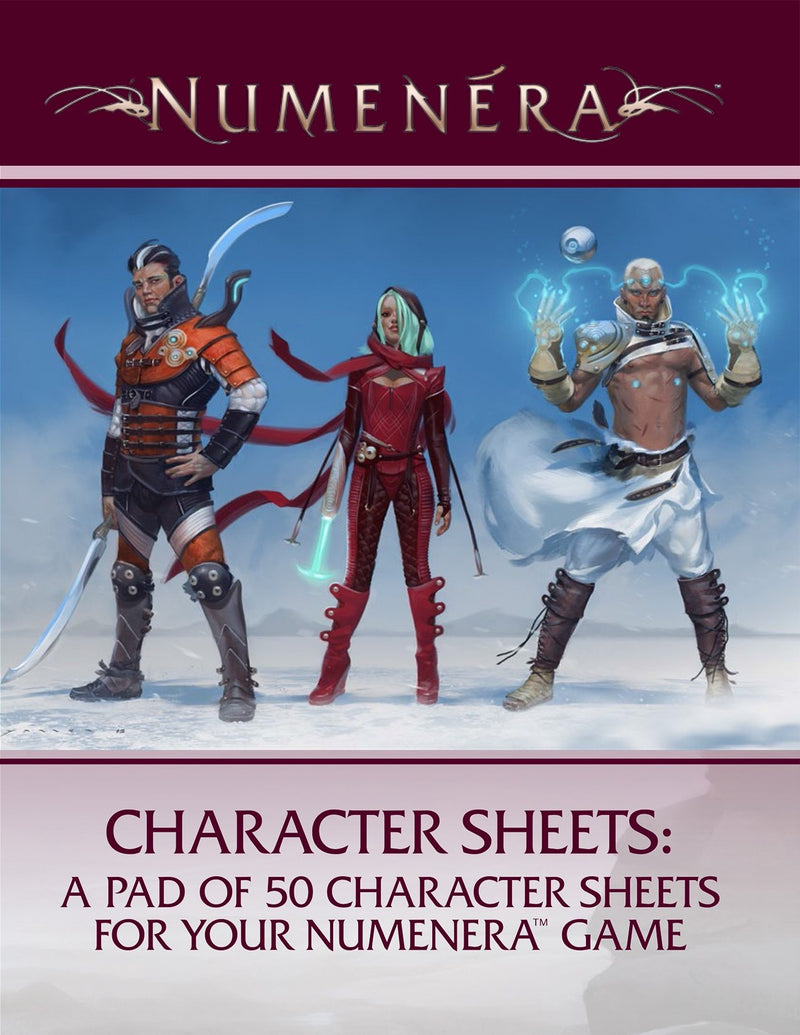 Numenera Character Sheet - Good Games