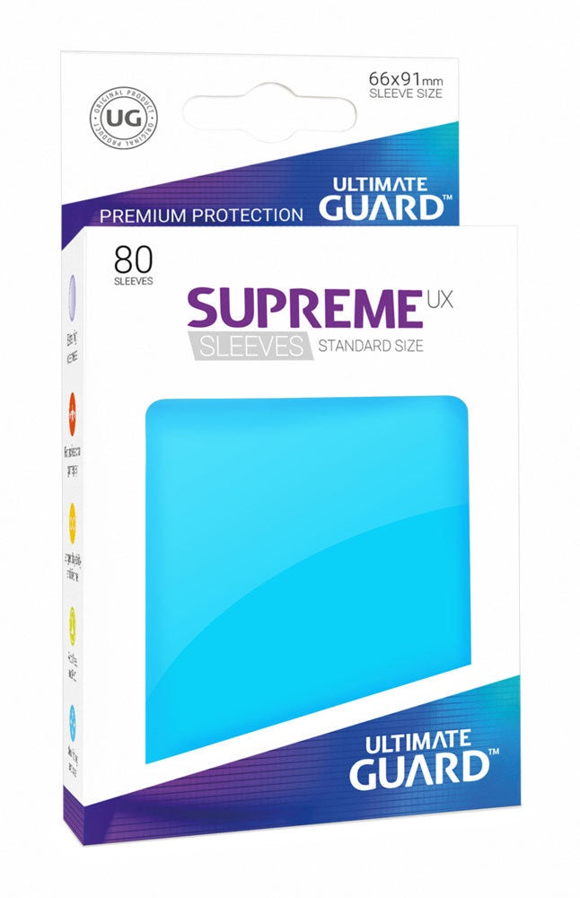 Sleeves Ultimate Guard Supreme Ux Sleeves Standard Size Solid Light Blue (80)