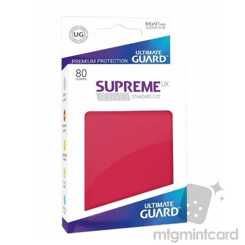 Sleeves Ultimate Guard Supreme Ux Sleeves Standard Size Solid Red (80)