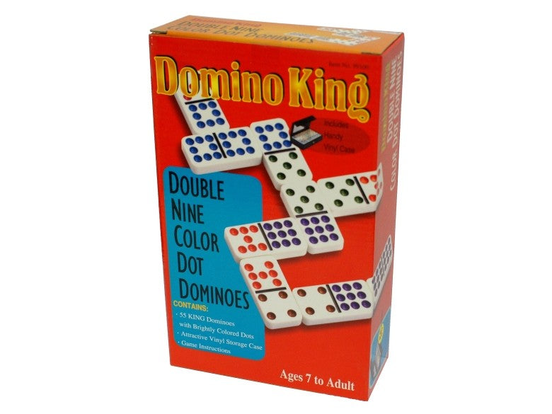 Domino King Double Nine Coloured Dots