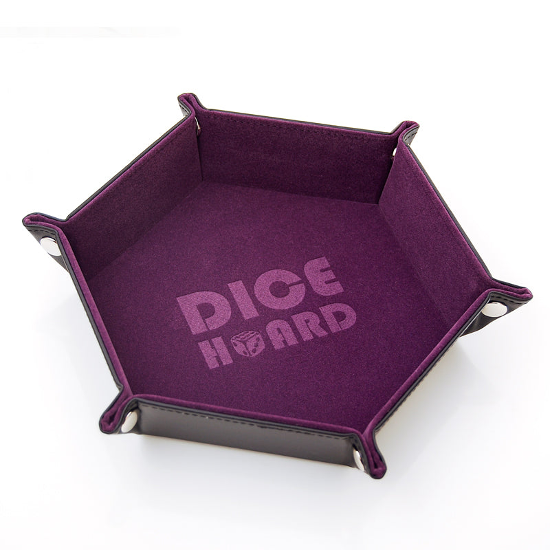 Dice Hoard Dice Tray Hex Purple