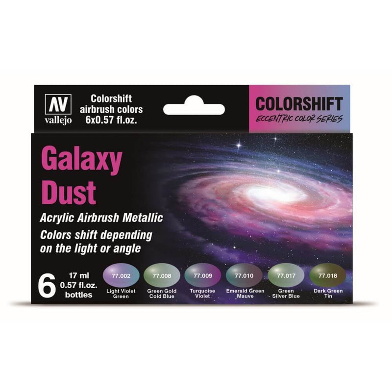 Vallejo Eccentric The Shifters Galaxy Dust (6 Colour Set) Acrylic Airbrush Paint