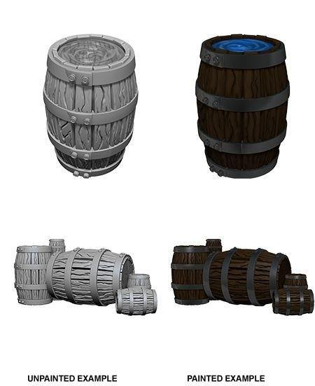 Pathfinder Deep Cuts Unpainted Miniatures Barrel & Pile Of Barrels - Good Games