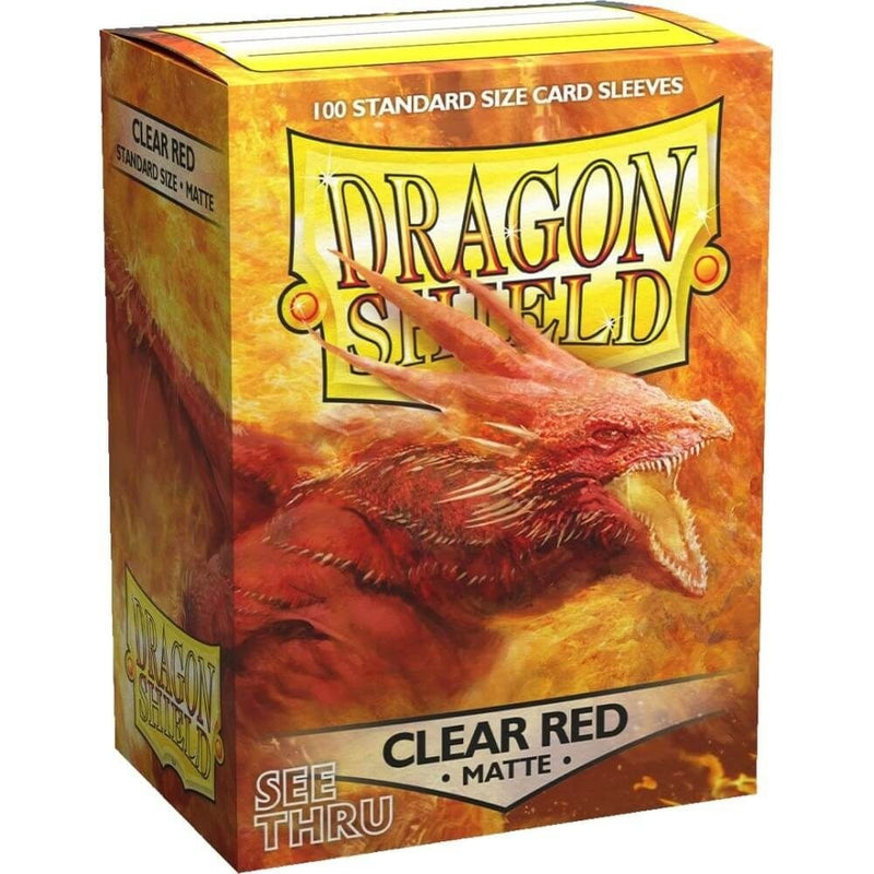 Dragon Shield Sleeves Standard Matte Clear Red (100)