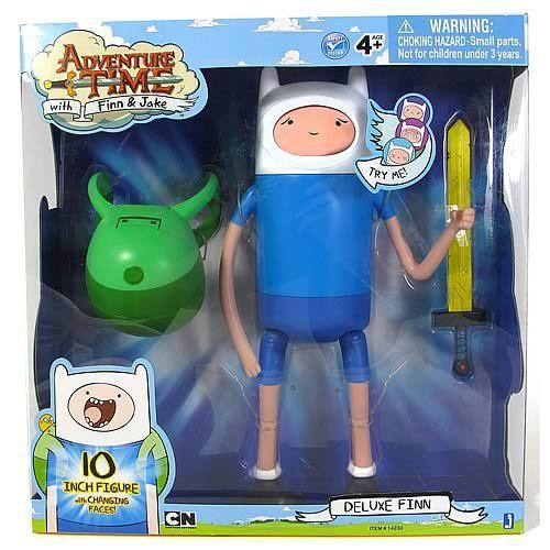"Adventure Time Deluxe Finn 10"" Poseable Figure - Good Games"