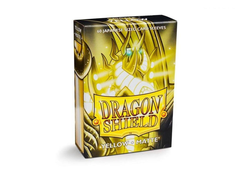 Sleeves Dragon Shield Box 60 Yellow Matte - Good Games