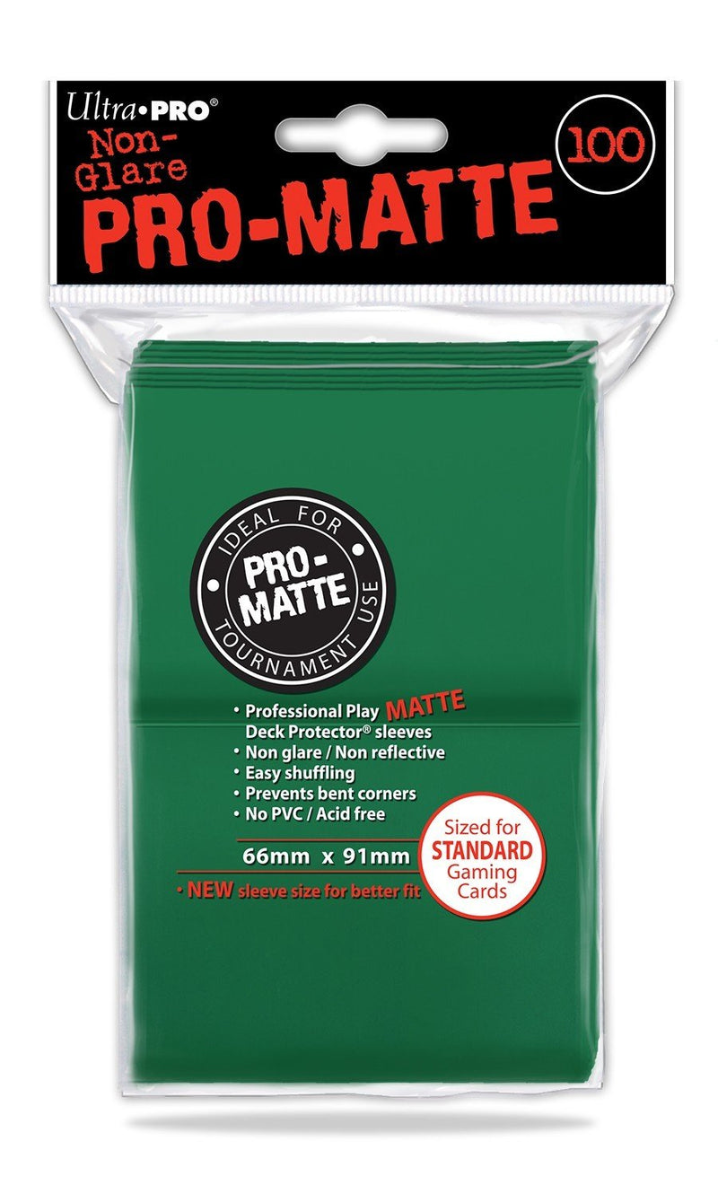 Sleeves Non Glare Pro-Matte Standard Green 100ct - Good Games