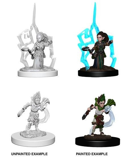 Pathfinder Deep Cuts Unpainted Miniatures Gnome Female Druid
