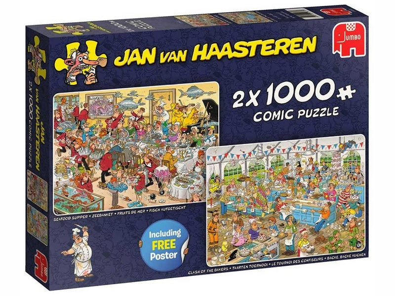 Food Frenzy: Jan Van Haasteren 2 X 1000pc Jigsaw Jumbo