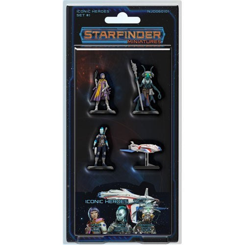 Starfinder Pre Painted Miniatures Iconic Heroes Set 1