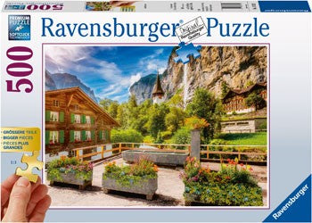 Ravensburger Lauterbrunnen Switzerland - 500 Piece Jigsaw