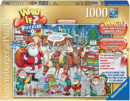 Ravensburger What If No 9 Santa And Rudolph - 1000 Piece Jigsaw