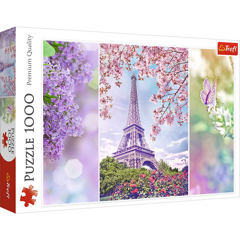 Trefl Romantic Spring In Paris 1000 Piece Jigsaw