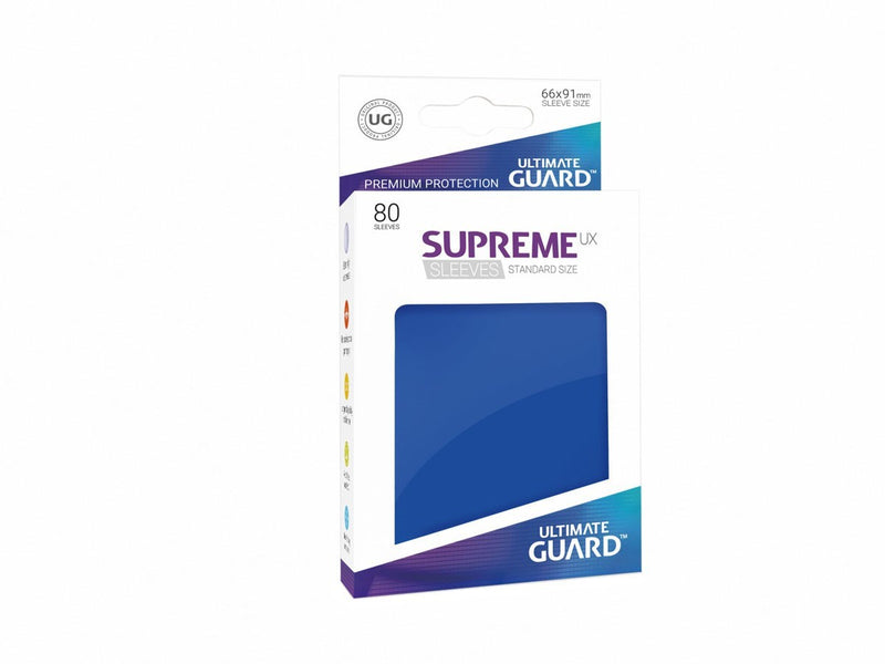 Sleeves Ultimate Guard Supreme Ux Sleeves Standard Size Solid Blue (80)