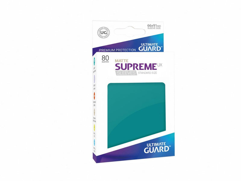 Sleeves Ultimate Guard Supreme Ux Sleeves Standard Size Matte Petrol Blue (80)